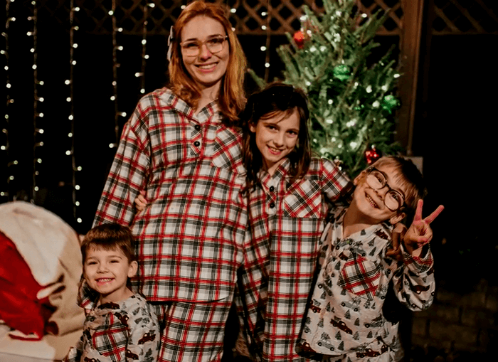 Christmas pajamas for my whole family